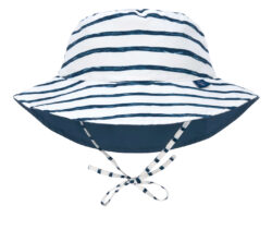 Sun Bucket Hat 2020 stripes navy 09-12 mo. - klobouček