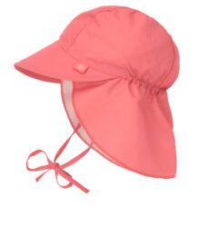 Sun Flap Hat coral 09-12 mo.-klobouček