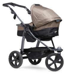 Mono combi pushchair - air chamber wheel brown - kombinovaný kočárek
