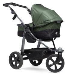 Mono combi pushchair - air chamber wheel oliv-kombinovaný kočárek