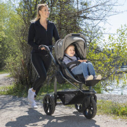 Mono combi pushchair - air chamber wheel prem. anthracite  (5391P.411)