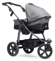Mono combi pushchair - air chamber wheel prem. grey - kombinovaný kočárek