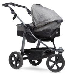 Mono combi pushchair - air chamber wheel prem. grey-kombinovaný kočárek