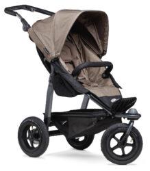 Mono stroller - air wheel brown-sportovní kočárek