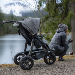 Mono stroller - air wheel brown  (5392.327)