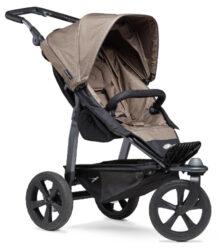 Mono stroller - air chamber wheel brown-sportovní kočárek