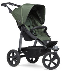 Mono stroller - air chamber wheel oliv-sportovní kočárek