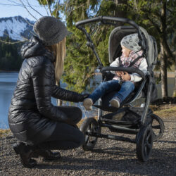 Mono stroller - air chamber wheel prem. grey(5393P.415)
