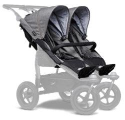 stroller seats Duo prem. grey-sportovní sedačky na kočárek Duo