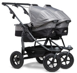 Duo combi pushchair - air wheel grey - kombinovaný kočárek