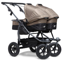 Duo combi pushchair - air wheel brown - kombinovaný kočárek