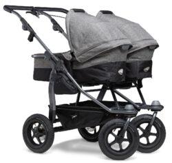 Duo combi pushchair - air wheel prem. grey-kombinovaný kočárek