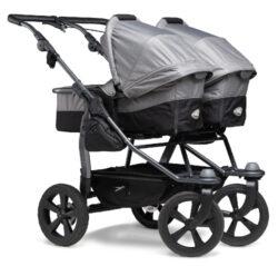 Duo combi pushchair - air chamber wheel grey-kombinovaný kočárek