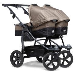 Duo combi pushchair - air chamber wheel brown-kombinovaný kočárek