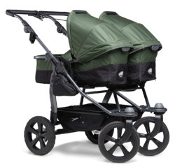 Duo combi pushchair - air chamber wheel oliv - kombinovaný kočárek