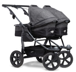 Duo combi pushchair - air chamber wheel prem. anthracite - kombinovaný kočárek