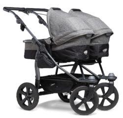 Duo combi pushchair - air chamber wheel prem. grey-kombinovaný kočárek