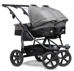 Duo combi pushchair - air chamber wheel prem. grey - kombinovaný kočárek