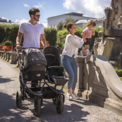 Duo combi pushchair - air chamber wheel prem. grey  (5395P.415)
