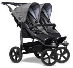 Duo stroller - air chamber wheel prem. grey-sportovní kočárek