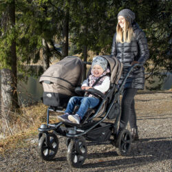 Duo stroller - air chamber wheel prem. anthracite(5397P.411)