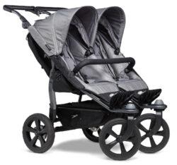 Duo stroller - air chamber wheel grey-sportovní kočárek