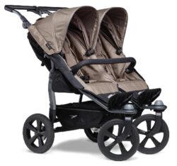 Duo stroller - air chamber wheel brown-sportovní kočárek