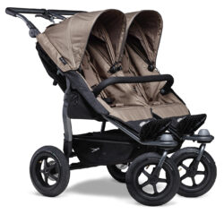 Duo stroller - air wheel brown-sportovní kočárek