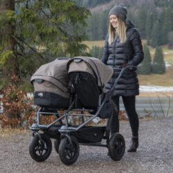 Duo stroller - air wheel brown(5396.327)