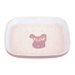Plate Melamine/Silicone About Friends chinchilla-dětský talíř