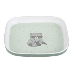 Plate Melamine/Silicone About Friends racoon-dětský talíř