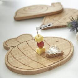 Breakfast Board Bamboo Wood Garden Explorer snail(7244.009)