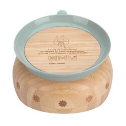 Bowl Bamboo Wood Little Chums cat(7246V.02)
