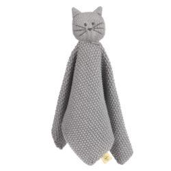 Knitted Baby Comforter Little Chums cat-dětský utěšitel