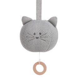 Knitted Musical Little Chums cat-hudobná hračka