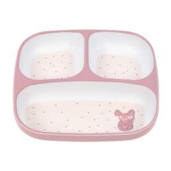 Plate Section Melamine/Silicone 2020 About Friends chinchilla-dětský talíř