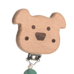 Soother Holder Wood/Silicone Little Chums dog(7332.001)