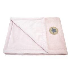 deka dvojitá Mazlík Outlast pudrová stříbrný puntík/sv.pudrová-deka
