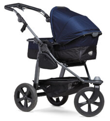 Mono combi pushchair - air chamber wheel navy - kombinovaný kočárek