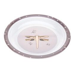 Plate Melamine/Silicone Adventure dragonfly-dětský talíř