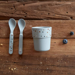 Spoon Set PP/Cellulose Tiny Farmer Sheep/Goose blue(7303C.02)