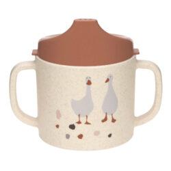 Sippy Cup PP/Cellulose Tiny Farmer Sheep/Goose nature-dětský hrneček