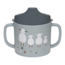 Sippy Cup PP/Cellulose Tiny Farmer Sheep/Goose blue-dětský hrneček