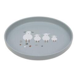 Plate PP/Cellulose Tiny Farmer Sheep/Goose blue-dětský talíř