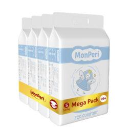ECO comfort Mega Pack S-jednorázové pleny 3-6 kg