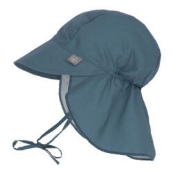 Sun Flap Hat navy 09-12 mo.-klobouček