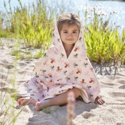 Beach Poncho Girls spotted white(7290G.15)