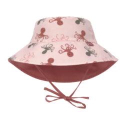 Sun Bucket Hat octopus rose 18-36 mo.-klobouček