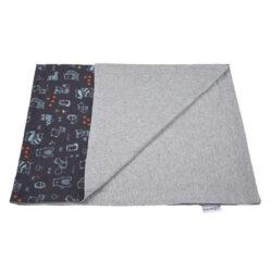 deka dvojitá tenká Animals Outlast tm.modrá/šedý melír-deka