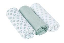 Swaddle blanket 85x85 Little Chums Star light mint-bavlněné pleny